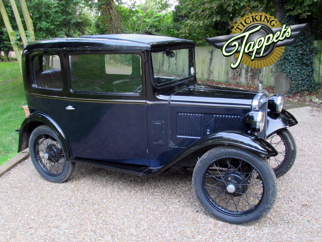 A beautiful example of the Austin Seven Salon in blue. Sold with spare wheel. Mileage 20,000 km.