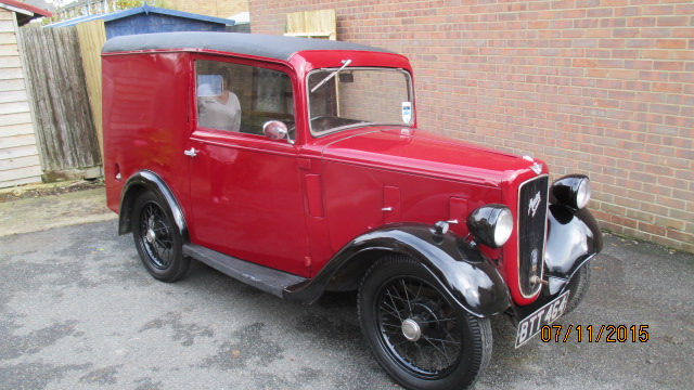 Absolutely stunning Austin 7 Ruby van 1935.