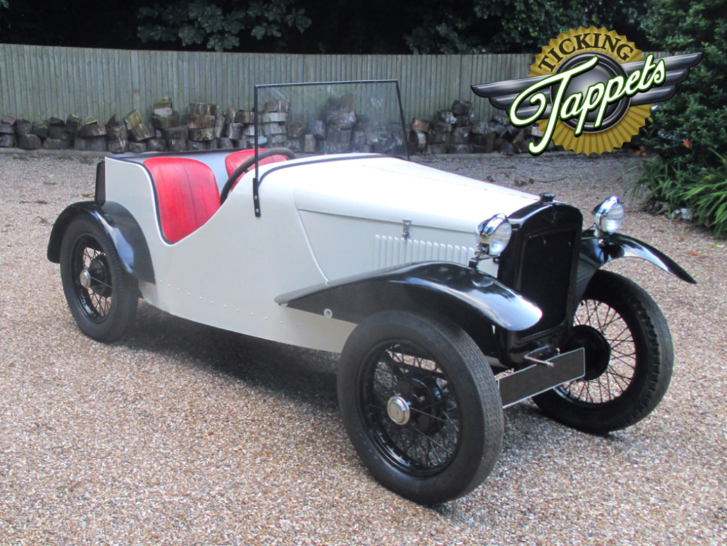 A beautiful example of the Austin Seven GT in white. Sold with hood and spare wheel. Mileage 30,000 km.